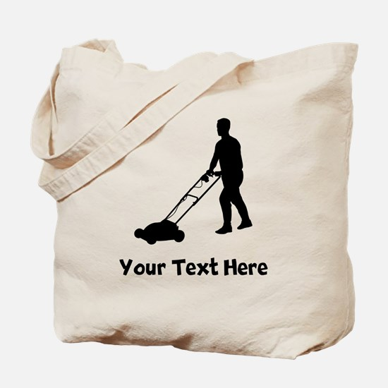 Lawn Mowing Silhouette Tote Bag