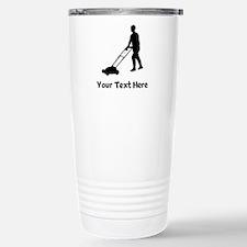 Lawn Mowing Silhouette Travel Mug