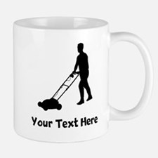 Lawn Mowing Silhouette Mugs
