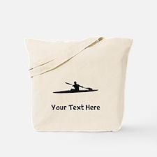 Kayaker Silhouette Tote Bag
