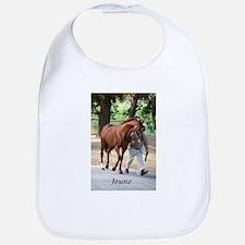Cute Racehorse Bib