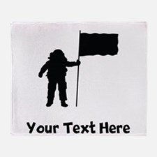 Astronaut Silhouette Throw Blanket