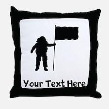 Astronaut Silhouette Throw Pillow
