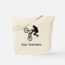 BMX Rider Silhouette Tote Bag
