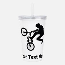 BMX Rider Silhouette Acrylic Double-wall Tumbler