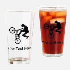 BMX Rider Silhouette Drinking Glass