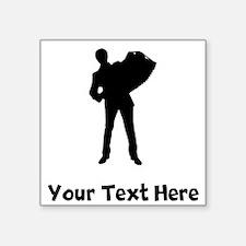 Accordion Player Silhouette Sticker