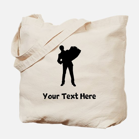Accordion Player Silhouette Tote Bag
