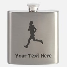 Runner Silhouette Flask