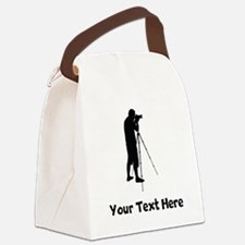 Photographer Silhouette Canvas Lunch Bag