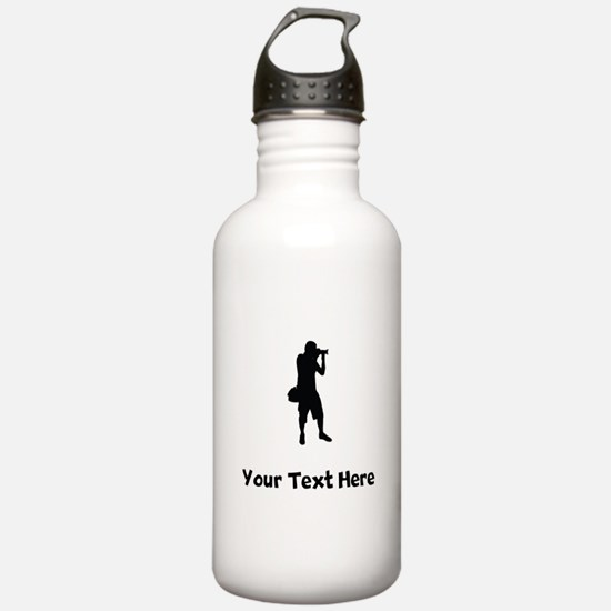 Photographer Silhouette Water Bottle