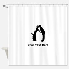 Wedding Couple Silhouette Shower Curtain