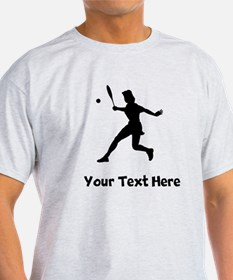 Tennis Player Silhouette T-Shirt