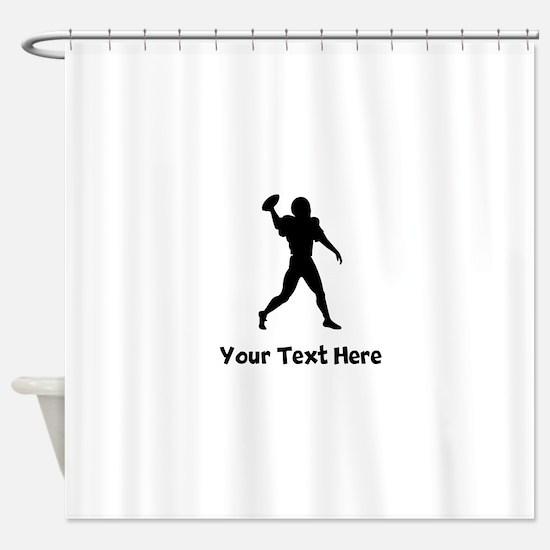 Quarterback Silhouette Shower Curtain