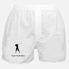 Golfer Silhouette Boxer Shorts