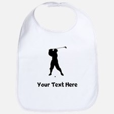 Golfer Silhouette Bib