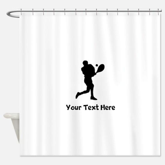 Tennis Player Silhouette Shower Curtain