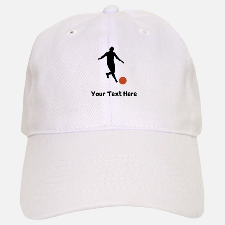 Kickball Player Silhouette Baseball Cap