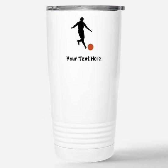 Kickball Player Silhouette Travel Mug