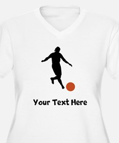 Kickball Player Silhouette Plus Size T-Shirt
