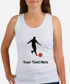Kickball Player Silhouette Tank Top