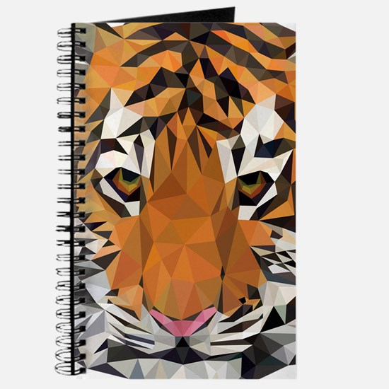 Tiger Cub Low Poly Triangle Geometric Journal
