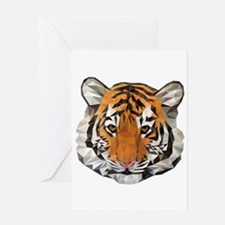 Tiger Cub Low Poly Triangle Geometr Greeting Cards