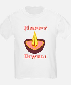 Happy Diwali Ash Grey T-Shirt
