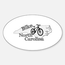 Bike North Carolina Sticker (Oval)