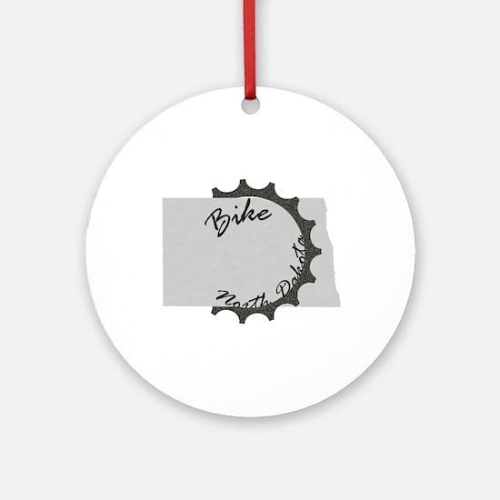 Bike North Dakota Round Ornament