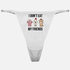 I Don't Eat My Friends - Vegan / Classic Thong