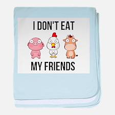 I Don't Eat My Friends - Vegan / baby blanket