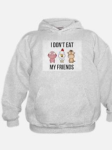 I Don't Eat My Friends - Vegan / V Hoodie
