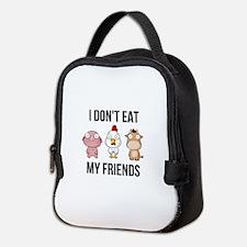 I Don't Eat My Friends - Ve Neoprene Lunch Bag