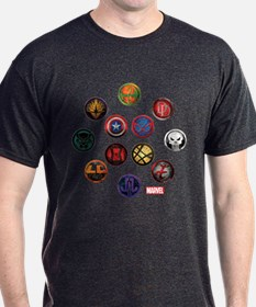 Marvel Grunge Icons T-Shirt