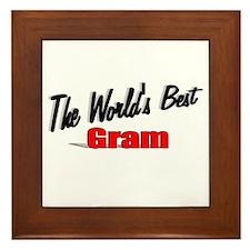 """""""The World's Best Gram"""" Framed Tile"""