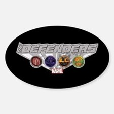 The Defenders Icons Sticker (Oval)