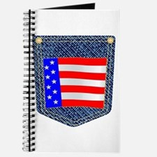 Stars and Stripes Denim Pocket Journal