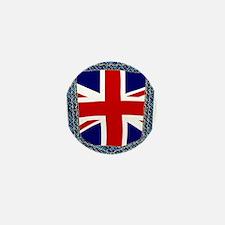 Union Jack Denim Pocket Mini Button