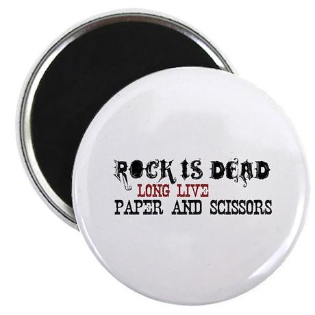 "Rock is Dead 2.25"" Magnet (100 pack)"