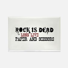 Rock is Dead Rectangle Magnet