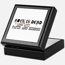 Rock is Dead Keepsake Box