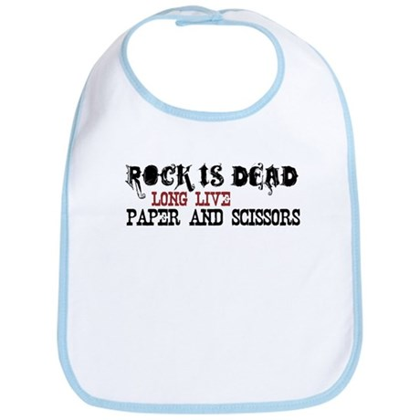 Rock is Dead Bib