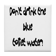 Blue toliet water Tile Coaster