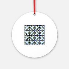 Cute Tile Round Ornament