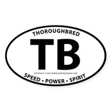 Thoroughbred Oval Decal