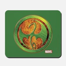 Iron Fist Grunge Icon Mousepad