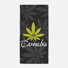 Marijuana Leaf Beach Towel