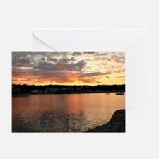 Unique Sunset clouds Greeting Card