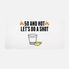 Funny 50th birthday Beach Towel